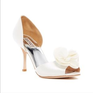 Badgley Mischika Thora White Satin